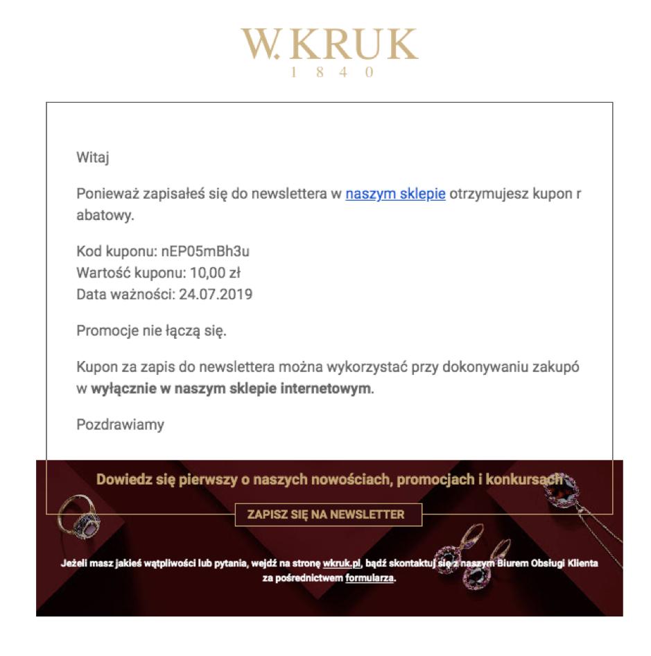 kampania drip e-mailowa W.Kruk
