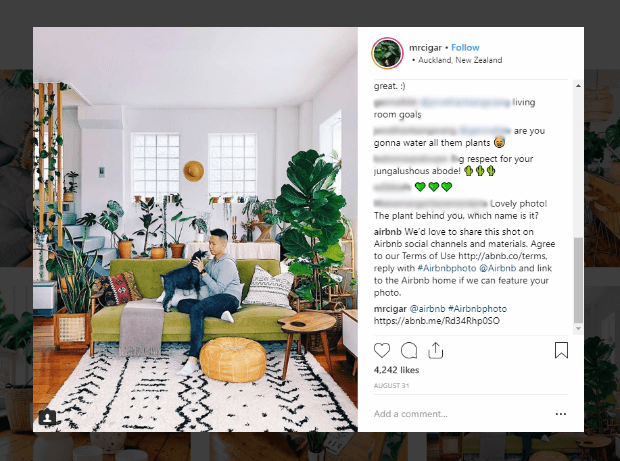 airbnb ugc user generated content